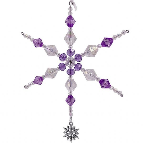 Snowflake decoration kit purple & clear ab ac004 Only £1.14  each